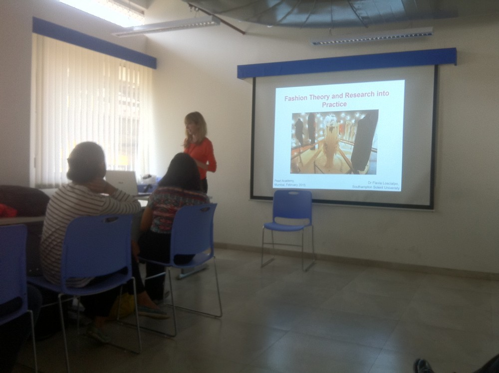 """Flavia Loscialpo discussing """"Fashion Theory and Research into Practice"""" with Pearlites"""